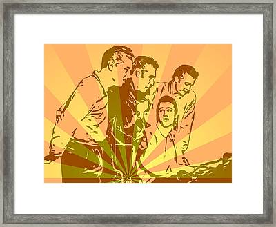 Million Dollar Quartet Pop Art Framed Print by Dan Sproul