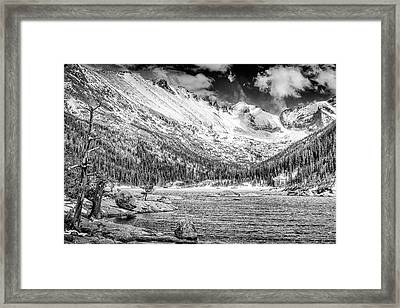 Mills Lake Monochrome Framed Print by Eric Glaser