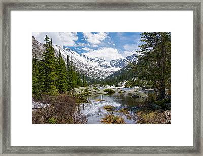 Mills Lake - Rocky Mountain National Park Framed Print by Aaron Spong