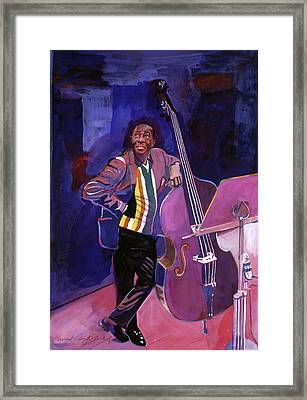 Milt Hinton Jazz Bass Framed Print by David Lloyd Glover