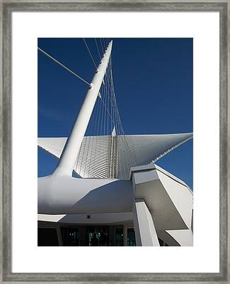 Milwaukee Art Museum Cropped Framed Print by Anita Burgermeister