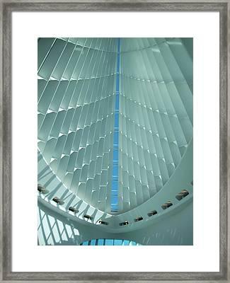 Milwaukee Art Museum Interior Framed Print by Anita Burgermeister