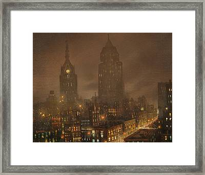 Milwaukee Fog Framed Print by Tom Shropshire
