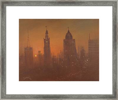 Milwaukee Morning Framed Print by Tom Shropshire