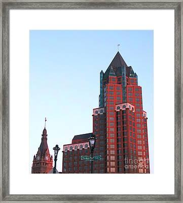 Milwaukee Sundown Framed Print by Ann Horn