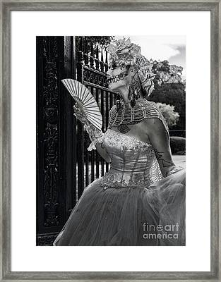 Mime In The Square - Nola Framed Print by Kathleen K Parker