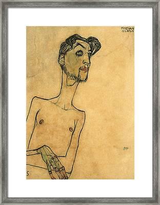 Mime Van Osen Framed Print by Egon Schiele