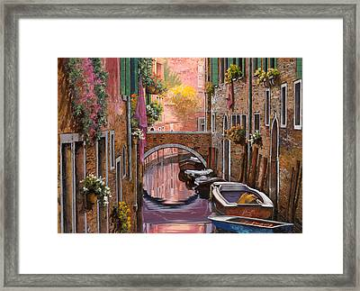 Mimosa Sui Canali Framed Print by Guido Borelli