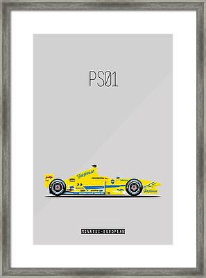Minardi European Ps01 F1 Poster Framed Print by Beautify My Walls