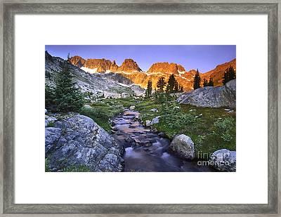 Minaret Morning Framed Print by Buck Forester