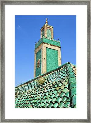 Minaret Of Grand Mosque Framed Print by Kelly Cheng Travel Photography