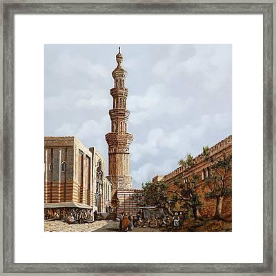 Minareto E Mercato Framed Print by Guido Borelli