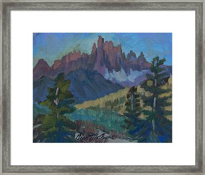 Minarets Vista At Mammoth Mountain Framed Print by Diane McClary