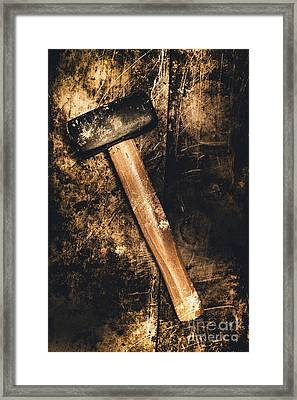 Mine Shaft Mallet Framed Print by Jorgo Photography - Wall Art Gallery