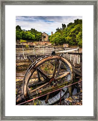 Mine Wheel Framed Print by Adrian Evans