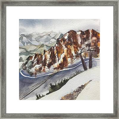 Mineral Basin At Snowbird Utah Framed Print by Lynne Bolwell