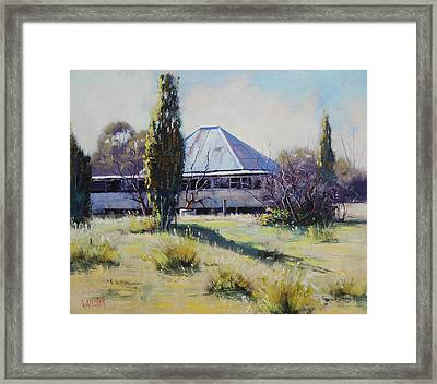 Miners Cottage Pyramul  Framed Print by Graham Gercken