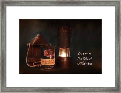 Miner's Essentials Framed Print by Lori Deiter