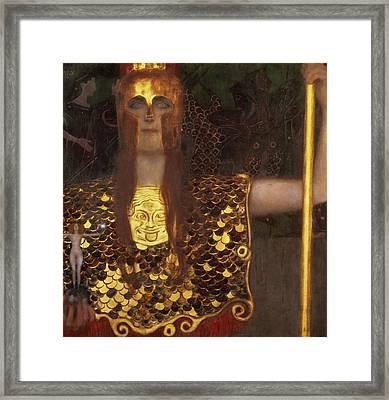 Minerva Framed Print by Gustav Klimt