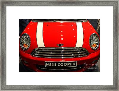 Mini Cooper . 7d9534 Framed Print by Wingsdomain Art and Photography