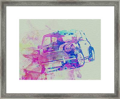 Mini Cooper Framed Print by Naxart Studio