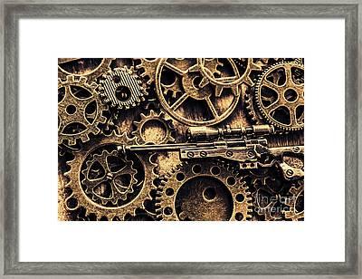 Miniature Awm Bolt-action Sniper Rifle  Framed Print by Jorgo Photography - Wall Art Gallery