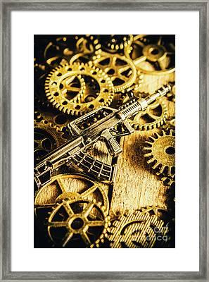 Miniature Qbz-95 Automatic Rifle Framed Print by Jorgo Photography - Wall Art Gallery