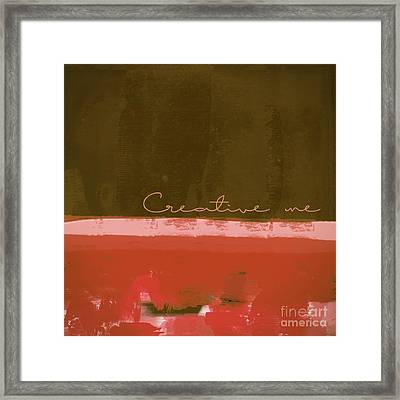 Minima - Creative Me - Ch201 Framed Print by Variance Collections