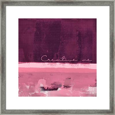 Minima - Creative Me - R01at55 - Pinks Framed Print by Variance Collections