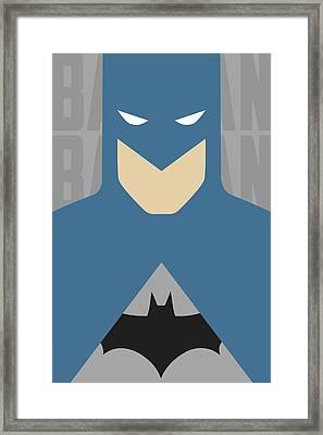Minimal Batman 2 Framed Print by Manny Jasus