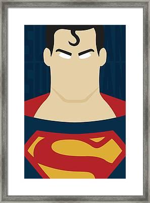 Minimal Superman 1 Framed Print by Manny Jasus