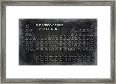 Minimalist Periodic Table Framed Print by Daniel Hagerman