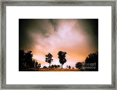 Minimalist Rural Landscape Framed Print by Jorgo Photography - Wall Art Gallery