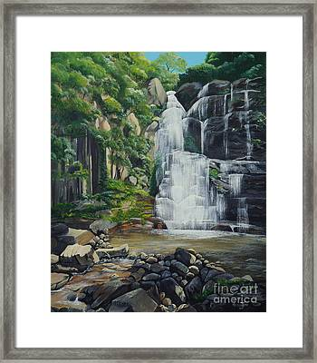 Minnamurra Falls Framed Print by Merrin Jeff