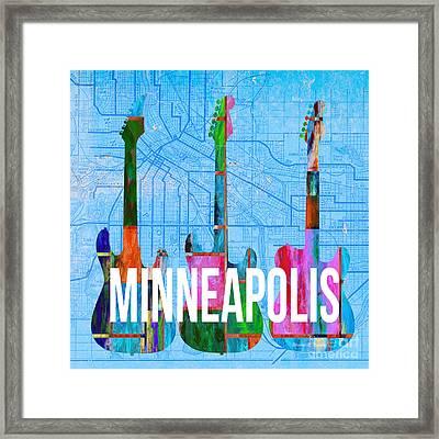 Minneapolis Music Scene Framed Print by Edward Fielding
