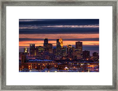 Minneapolis Skyline Framed Print by Shawn Everhart