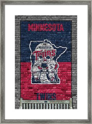 Minnesota Twins Brick Wall Framed Print by Joe Hamilton