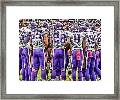 Minnesota Vikings Team Art Framed Print by Joe Hamilton