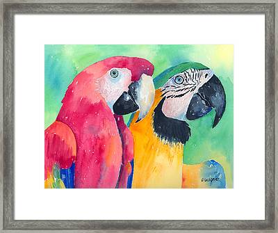 Minnie And Boggs Framed Print by Arline Wagner
