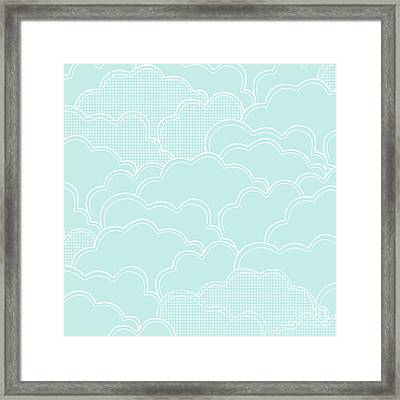 Mint Clouds Framed Print by Elizabeth Tuck