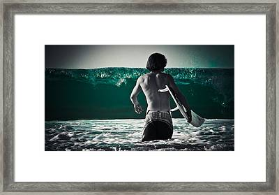 Mint Surf Framed Print by Loriental Photography