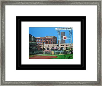 Minute Maid Park Framed Print by Leo Artist