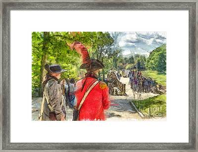 Minuteman And Redcoat Concord Ma Pencil Framed Print by Edward Fielding