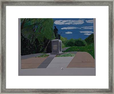 Minuteman Memorial Framed Print by William Demboski