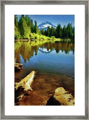 Mirror Lake - Mount Hood Framed Print by Jeff Kolker