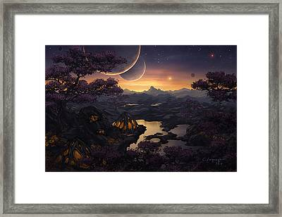 Mirror Lakes Framed Print by Cassiopeia Art