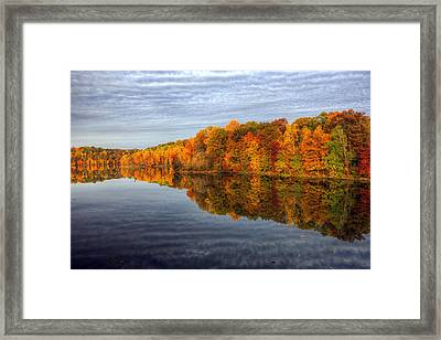 Mirror Mirror On The Fall Framed Print by Edward Kreis