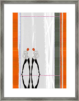 Mirror Reflections Framed Print by Naxart Studio