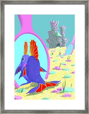 Mirrors In The Sand Framed Print by Tom Dickson