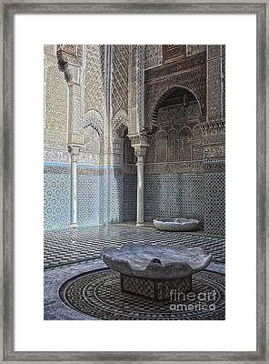 Misbahiya Medersa In Fez Framed Print by Patricia Hofmeester